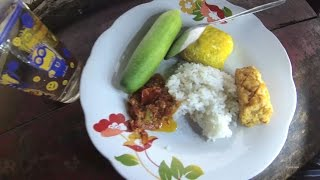 Greater Jakarta Street Food 912 Maja 8 Fried Tempeh Tofu Chilly Cucumber Rice Part.1 5749