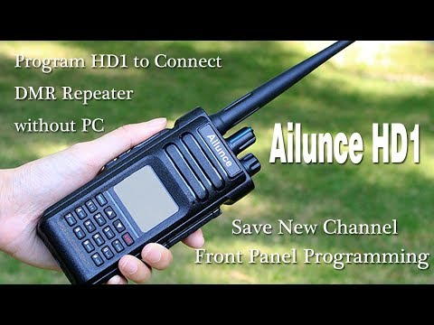 Ailunce HD1: Program HD1 to Connect DMR repeater without PC - YouTube