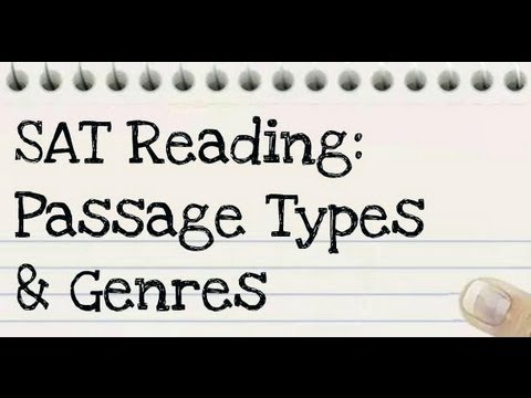 27 - SAT Critical Reading: Reading Passage Types