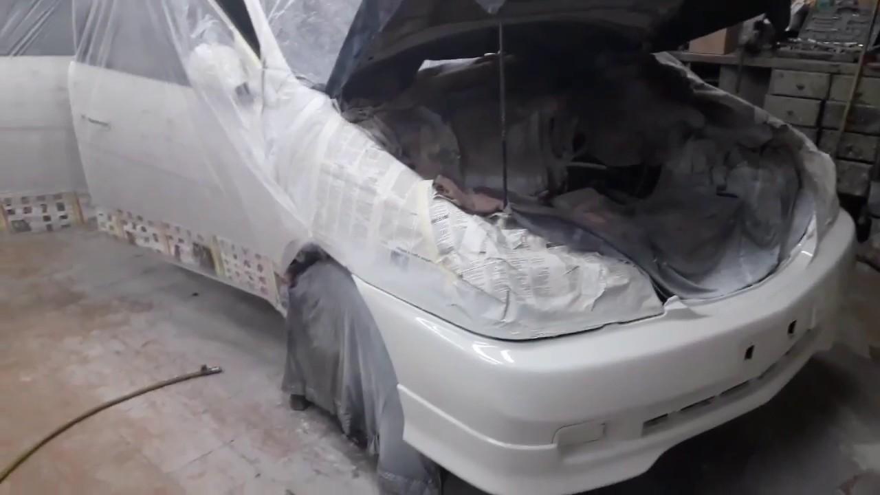Toyota Gaia Экспресс ремонт.Подготовка,пакраска.