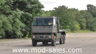 For sale Mowag Bucher Duro II 6x6 flatbed truck with HIAB crane UK MOD