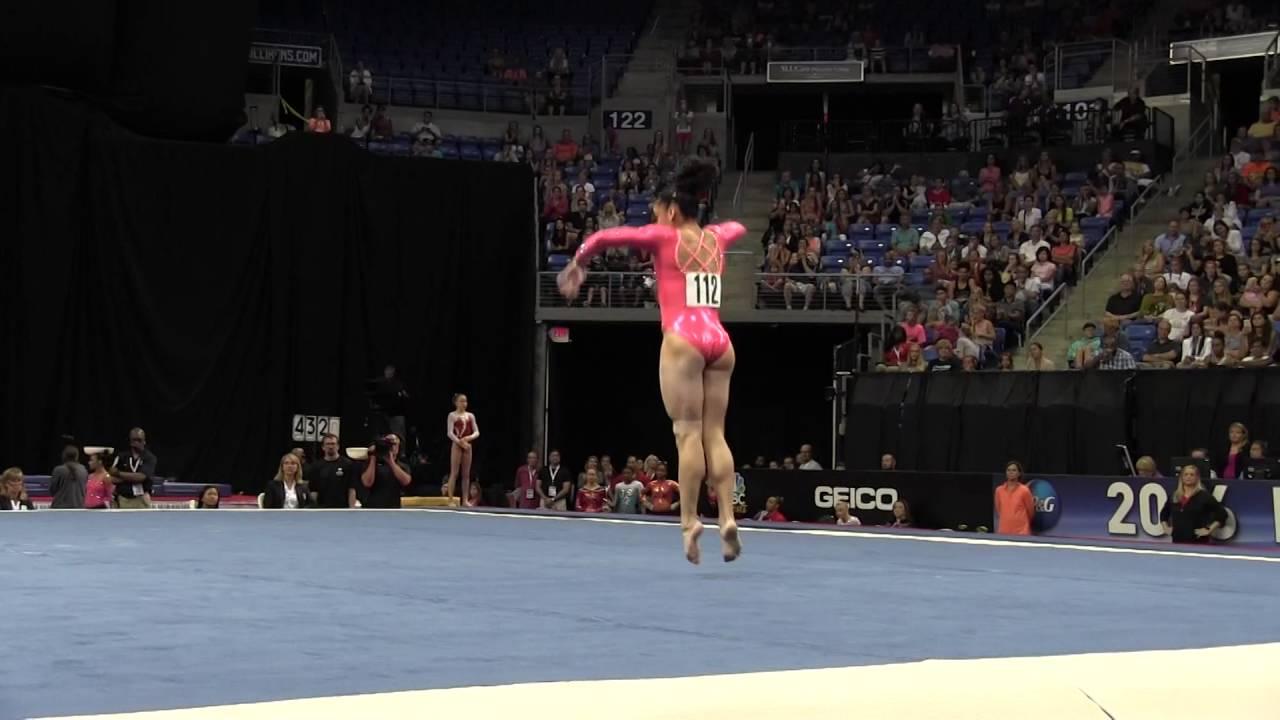 Lauren Hernandez Floor Exercise 2016 P Amp G Gymnastics