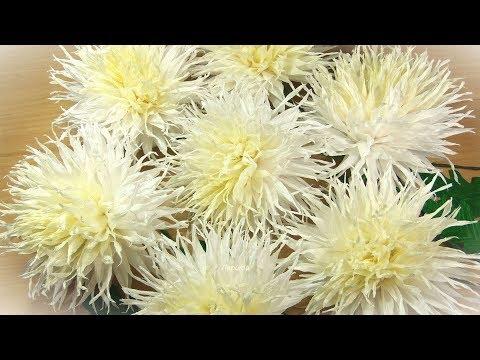Хризантемы из бумаги своими руками мастер класс из гофрированной бумаги