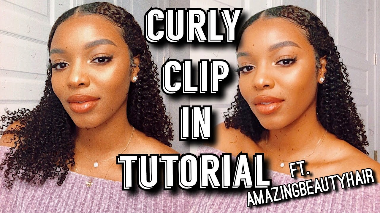 Curly Clip Ins For Natural Hair Extensions For Short Curly Hair How To Install Curly Clip Ins Youtube
