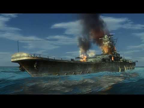 Battleship IJN Yamato sunk by a US Submarine Silent hunter 4 |