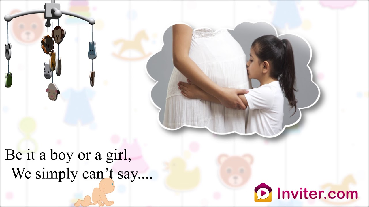 Whatsapp Baby Shower Video Invitation Online Seemantham Invitation Inviter Com