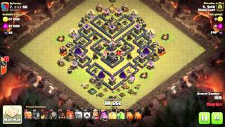 Clash of Clans | GoVaHo TH9 | Clan Wars 3 Star - V Moat Base