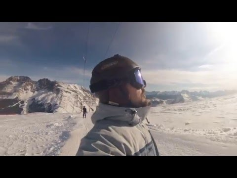 Alpe di pampeago skiing day 24.01.2016