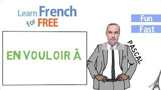 en vouloir à in French