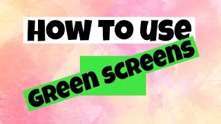 How to use green screen on pocket video | Karen video editz