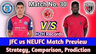 Jamshedpur FC vs North East United FC full match preview, H2H records, comparison, Playing strategy.