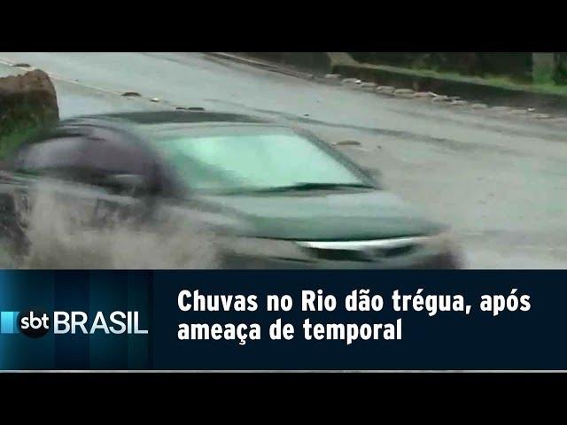 Chuvas no Rio dão trégua, após ameaça de temporal | SBT Brasil (13/02/19)