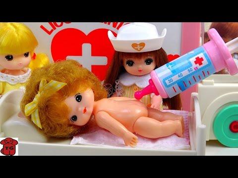 Ambulance Baby Doll Hospital Doctor Toys★구급차 병원놀이 장난감/리틀미미★リカちゃん あおいちゃんと きゅうきゅうしゃ