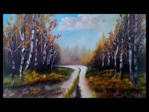 autumn landscape speed oil painting by fd