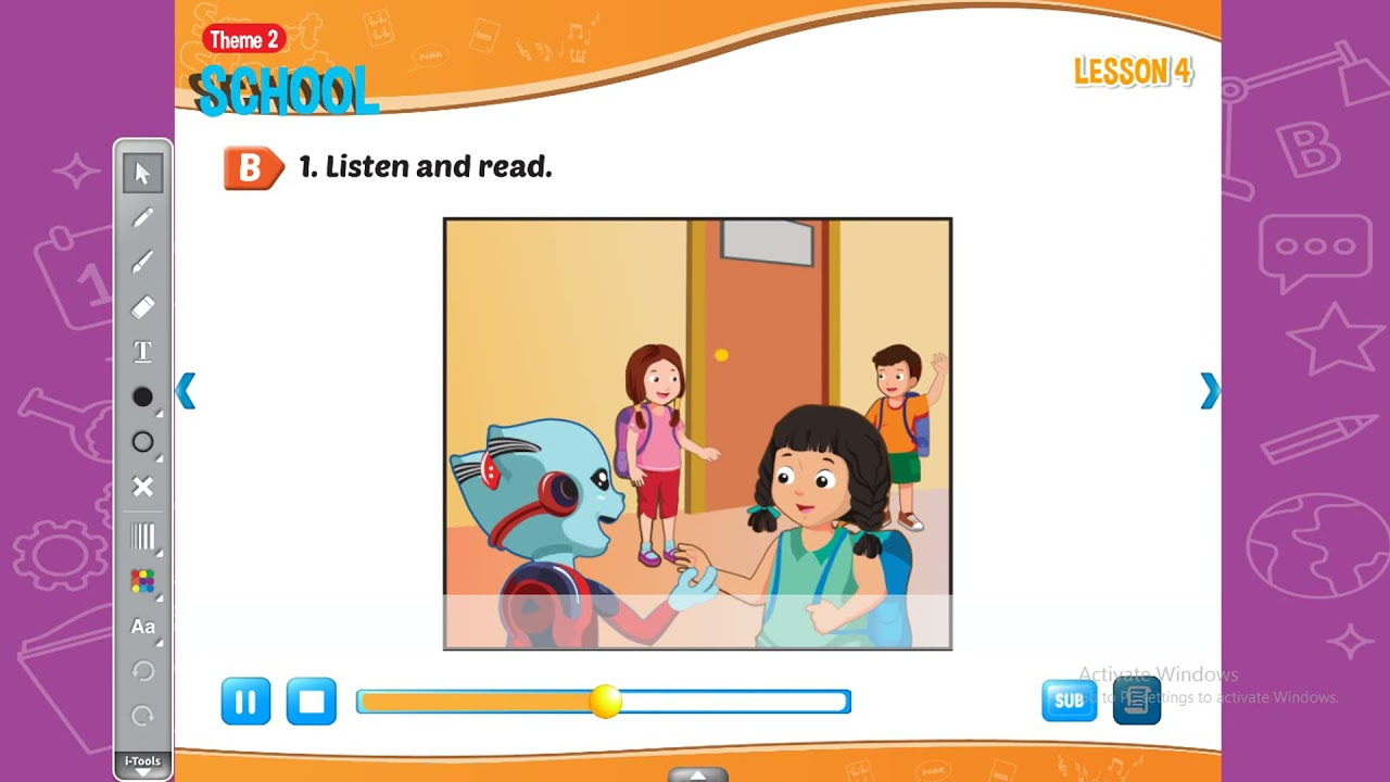 Smart Start 4ITheme 2: School -Lesson 3;4 -[học tiếng anh 345]