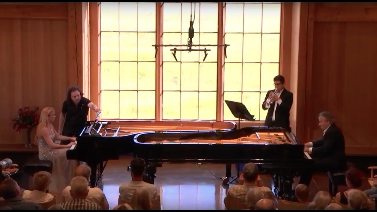 Svetlana Smolina, Christopher O'Riley, and Elmer Churampi play Scriabin: Le Poème de l'extase