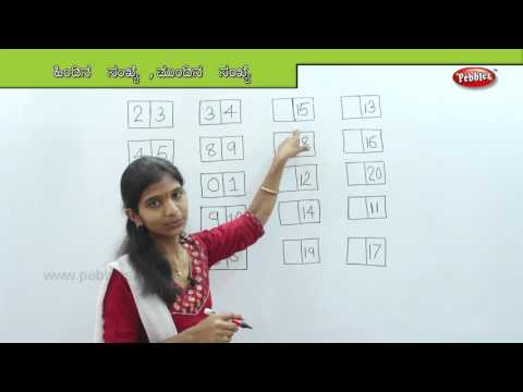 Learn Before & After Numbers in Kannada   Learn Math for Kids   Preschool Educational Learning Video