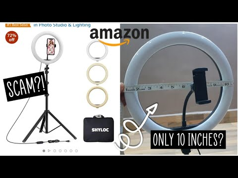 Shyloc 18 inches Ringlight with Tripod Unboxing and Review from Amazon *Not working?!* | Kushi Jain