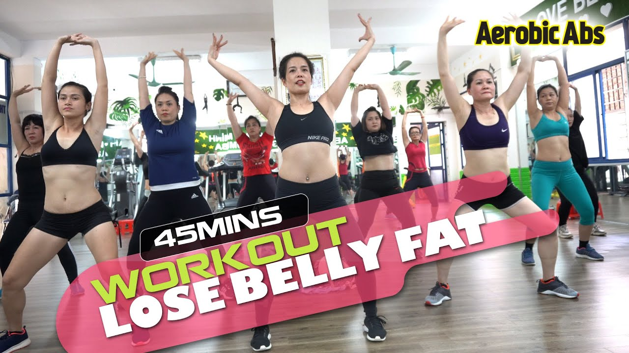 45 Minutes Aerobic Workout Lose Belly Fat Quickly and Effectively l Aerobic Abs