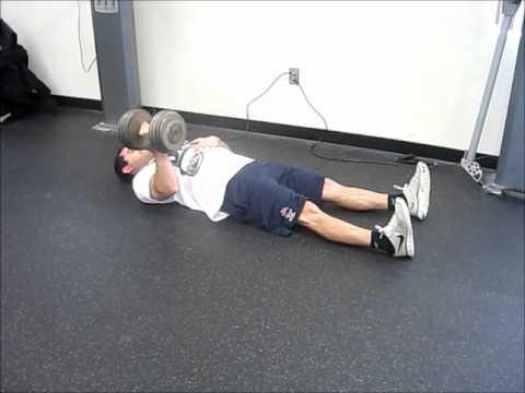 1 Arm Dumbbell Floor Press