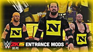 WWE 2K15 PC Mods - The Nexus Entrance with Custom Titantron/Music & Mini-tron