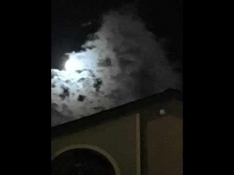 Full Moon Sasquatch in the Clouds