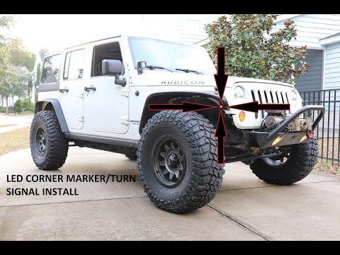 "Jeep DIY   Dual-Function 3/4"" LED Corner Marker/Turn Signal Lights Install"