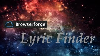Lyric Finder - BrowserSound.de