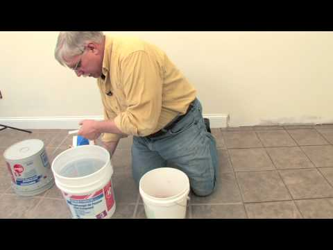How to Floor Grout Video 1 of 4