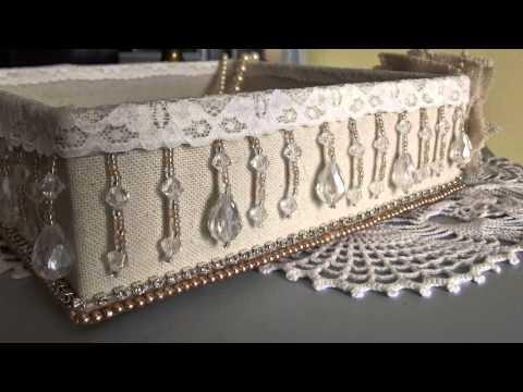 Magnifique boîte décorative style shabby chic