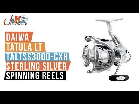 97d53983d68 Daiwa Tatula LT TALTSS3000-CXH Sterling Silver Spinning Reels | J&H Tackle  - YouTube