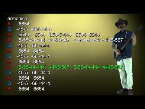 nº112 Too late for goodbyes (Julian Lennon ) tutorial armonica ( A-G-D ) chords guitar Mundharmonika