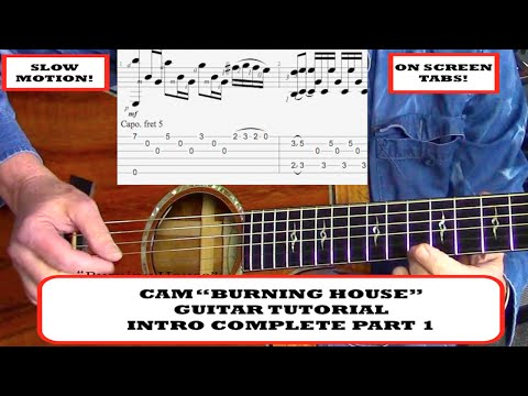 """BURNING HOUSE"" CAM - ACOUSTIC GUITAR TUTORIAL"