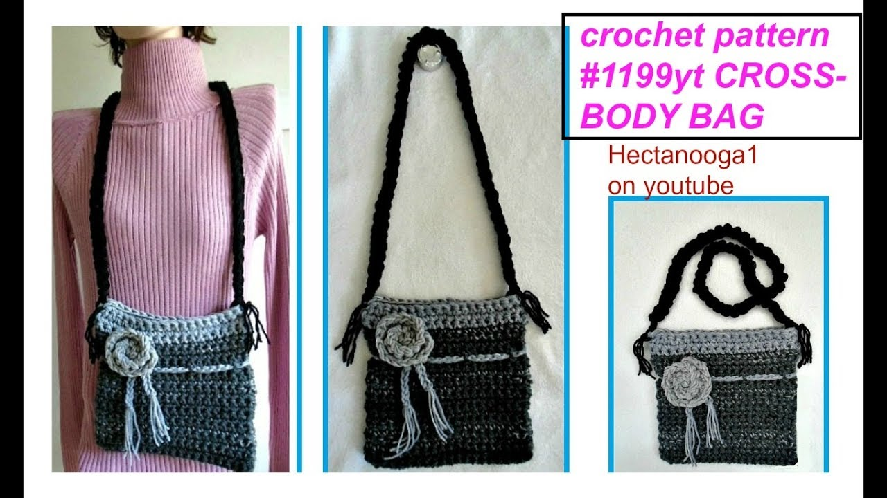 How To Crochet A Cross Body Bag Free Crochet Pattern Youtube