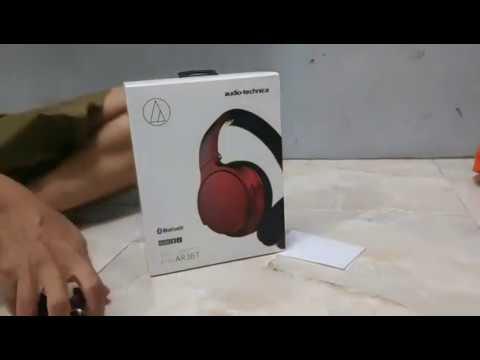 Unboxing Headphone Audio-technica ATH-AR3BT Promo Price $55 Or Rp.799.000