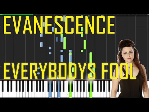 Evanescence - Everybodys Fool  Piano Tutorial - Chords - How To Play - Cover