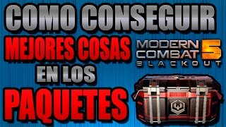 TRUCO Para PAQUETES ELITE o COMBATE en Modern Combat 5: Blackout SU...