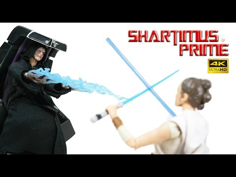 """Star Wars Emperor Palpatine With Throne Deluxe 6"""" Black Series Hasbro 4K Mini Action Figure Review"""