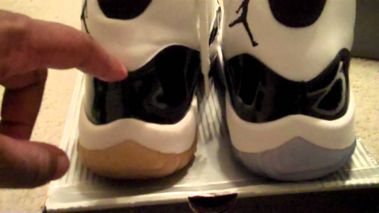 567b468aa24 Air Jordan 11 Concord 2011 vs 2000 Comparison and other pickups 1-16-2011 -  YouTube