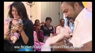 Kalabhavan Mani Magic With Ranjini Haridas   Towel Trick