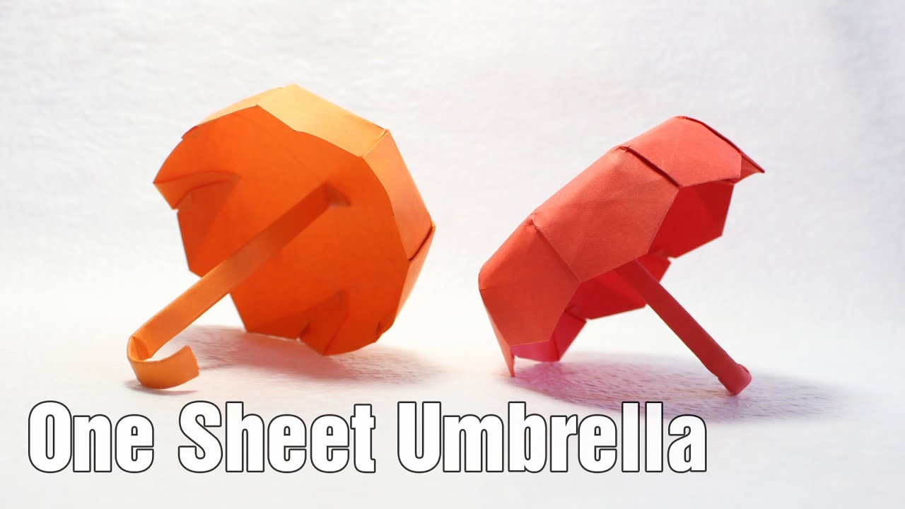 one sheet origami umbrella tutorial diy henry ph��m