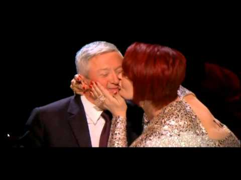 X Factor Sharon Osboune kiss Louis Walsh