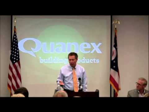 Governor Kasich visits the Quanex plant in Cambridge Ohio 9-21-2012