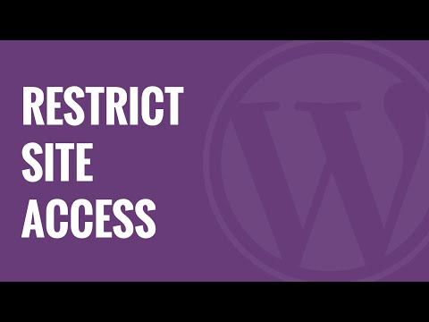 How to Restrict WordPress Site Access by IP or Logged In Users - 동영상