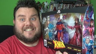 Marvel Legends Family Matters Magneto Quicksilver Scarlet Witch X-Men 3 Pack Exclusive Figure Review