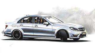 Mercedes-Benz C63 AMG drawing
