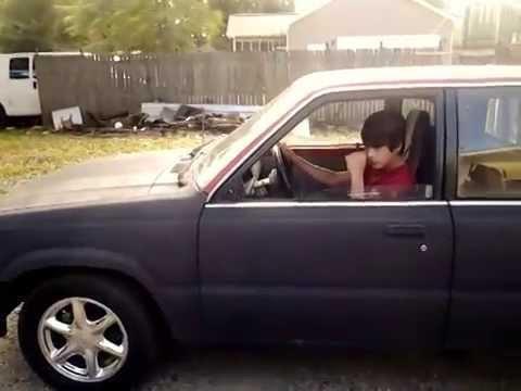 87 Mazda B2000 truck v8 swap 289 ford fmx - YouTube