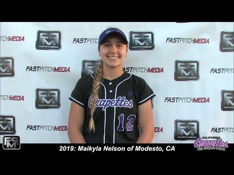 2019 Maikyla Nelson Pitcher and First Base Softball Skills Video - 18 Gold Ca Grapettes