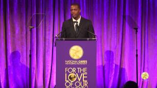 Teonte Miller speaks at National CARES For the Love of Our Children Gala, January 30, 2017