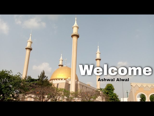 This is a tour of the National Mosque of Abuja City